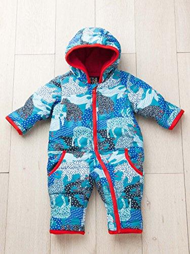 LITTLE BEAR CLUB (リトルベアークラブ) ベビー アニマル 幾何柄 中綿 ジャンプ スーツ 赤ちゃん ベビー服