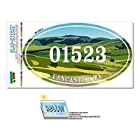 01523 ランカスター, MA - 緑緩やかに起伏している丘陵 - 楕円形郵便番号ステッカー