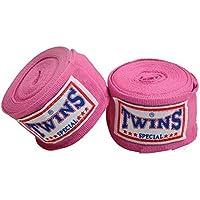 TWINS(ツインズ) バンテージ ピンク 伸縮タイプ 2個1セット ムエイタイ ボクシング MMA 格闘技 グローブ