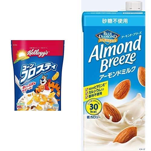 【セット買い】ケロッグ コーンフロスティ 袋 240g×6袋 + アーモンド・ブリーズ 砂糖不使用 1L×6本