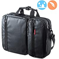 SANWA 3-in-1 Laptop Briefcase, 15.6 inch Business Bag, Water Resistance, Hand/Shoulder / Backpack, for MacBook Dell Hp Acer Asus Lenovo, for Men/Women, Business Travel, Black, GBAG3WAYC1BKWP