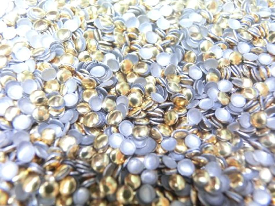 強化するロマンチックアクティビティ【ラインストーン77】 多種類 スタッズ 約200粒 丸(サークル) ゴールド 2mm