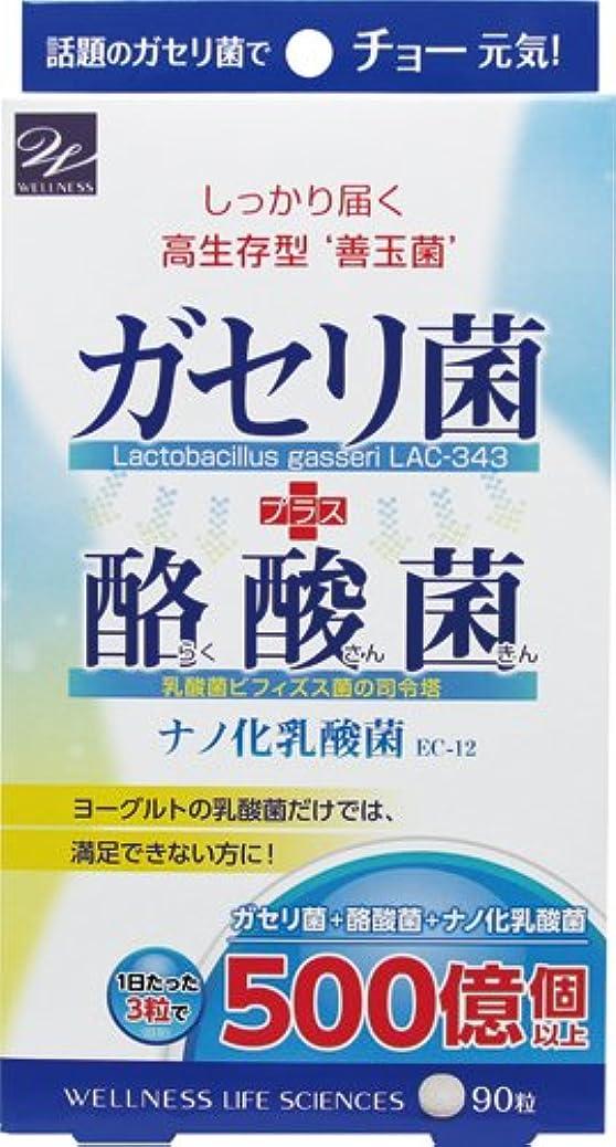 戦士シャープ苦悩ウエルネスライフサイエンス ガセリ菌+酪酸菌 90粒