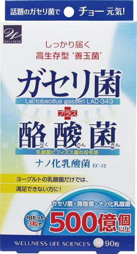 ウエルネスライフサイエンス ガセリ菌+酪酸菌 90粒