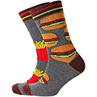 Mitch Dowd Men's Burgers & Fries Odd Fun Novelty Socks