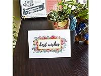 グリーティングカード 1 Pc最高の願いグリーティングカード封筒と招待カードギフトカード(カラフル)
