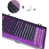 美容アクセサリー 16行ナチュラルメイクまつ毛黒つけまつげアイまつげエクステンションツール、カール:B、厚さ:0.10 mm(8 mm) 写真美容アクセサリー (色 : 10mm)