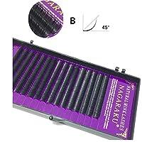 ビューティー 16行ナチュラルメイクまつ毛黒つけまつげアイまつげエクステンションツール、カール:B、厚さ:0.07 mm(8 mm) メイクアップ (色 : 12mm)