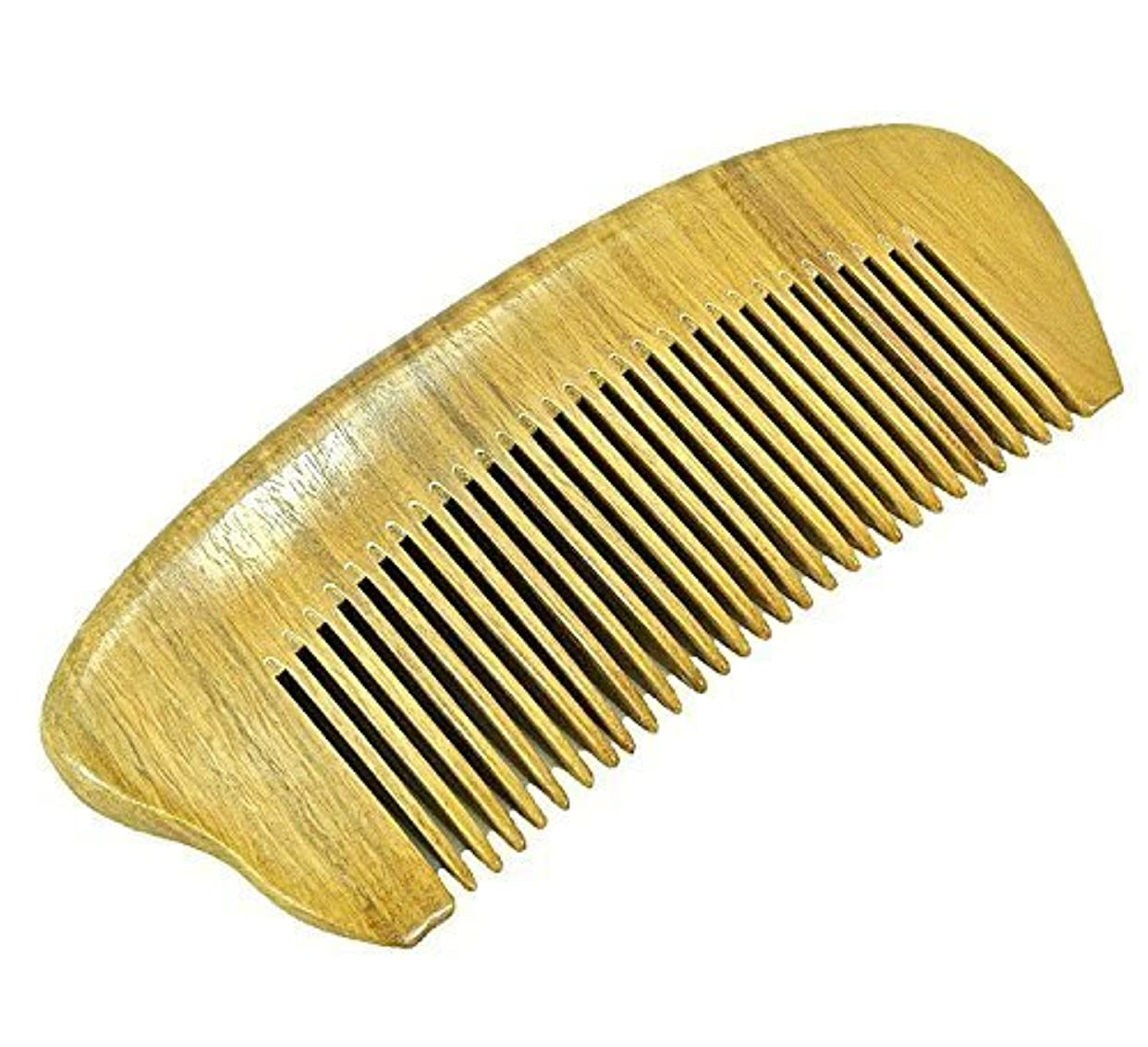 EQLEF? Green sandalwood no static handmade comb,Pocket comb (short) [並行輸入品]