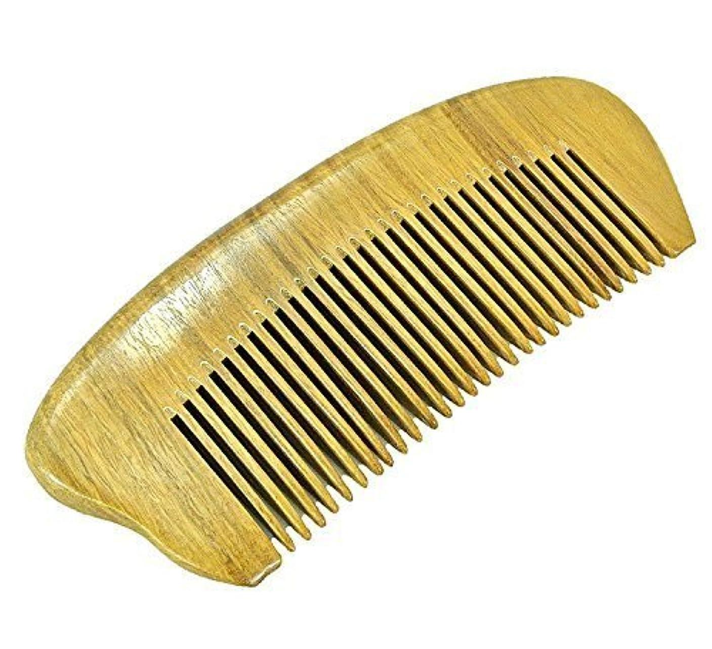 EQLEF? Green sandalwood no static handmade comb,Pocket comb (short) [並行輸入品]