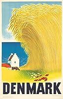 デンマークヴィンテージポスター(アーティスト: Rasmussen )デンマークC。1946 16 x 24 Signed Art Print LANT-74180-709