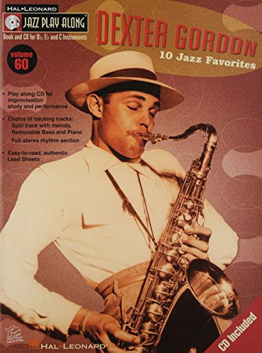 ジャズ・プレイ・アロング 第60巻:  デクスター・ゴードン(CD付)(Bb, Eb, C Instruments)/ハル・レナード社/サクソフォン・ソロ