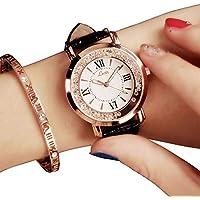 PAWACA Fashion Ladies Watche, Woman Luxury Wrist Quartz Analogue Watch with Adjustable Watchband for Daily Use