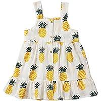 Peony Baby Toddler Girls Dresses Summer Sundress Pineapple Prints Organic 18m-6T