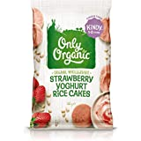 Only Organic Strawberry Yoghurt Rice Cakes Kindy 1-5 Years - 60g
