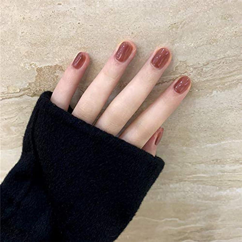 心臓手荷物矢じりSIFASHION ins 人気の 24pcs ネイルチップ 可愛い優雅ネイル 長い偽の爪