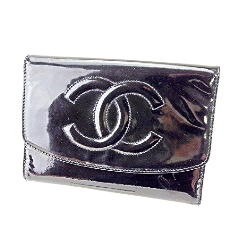 [シャネル] CHANEL 中長財布 ファスナー付き 財布 三つ折り レディース メンズ 可 オールド[シャネル] ココマーク 中古 ヴィンテージ T4372