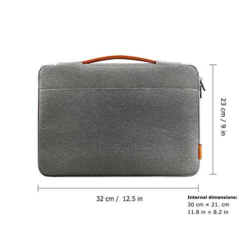 Inateck 11.6~12インチラップトップ用バッグ The New Macbook 12インチに適用 取っ手付き [ダークグレー]