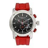 腕時計 バーバリー Burberry Sport Chronograph Black Dial Red Rubber Mens Watch BU7706【並行輸入品】