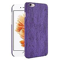 """iPhone 6s ケース, CHENXI 木の質感ケース アニマル柄 軽量 薄型 ハード ケース 保護カバーために iPhone 6s/iPhone 6 4.7"""" パープル"""