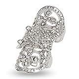(エバベア)EVBEジュエリー ファッション アクセサリ パンク 可愛い レディース リング 指輪 フリーサイズ ダイヤ クロス 十字架 ヴィンテージ
