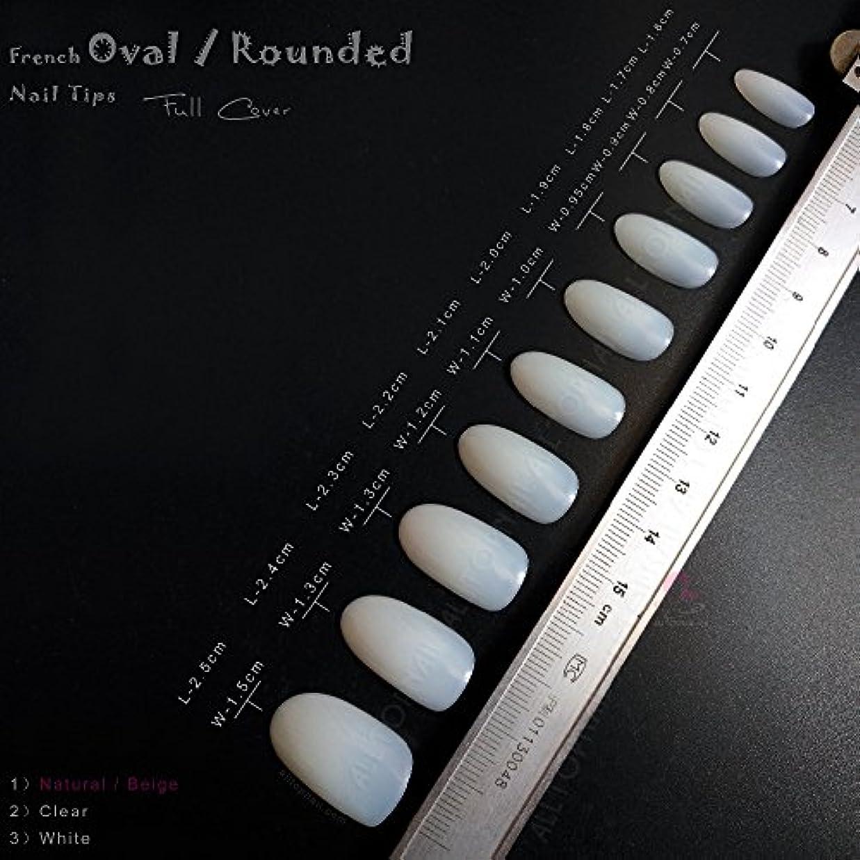 ラボ退屈腕ネイルチップ 10サイズ100枚(クリーム色)