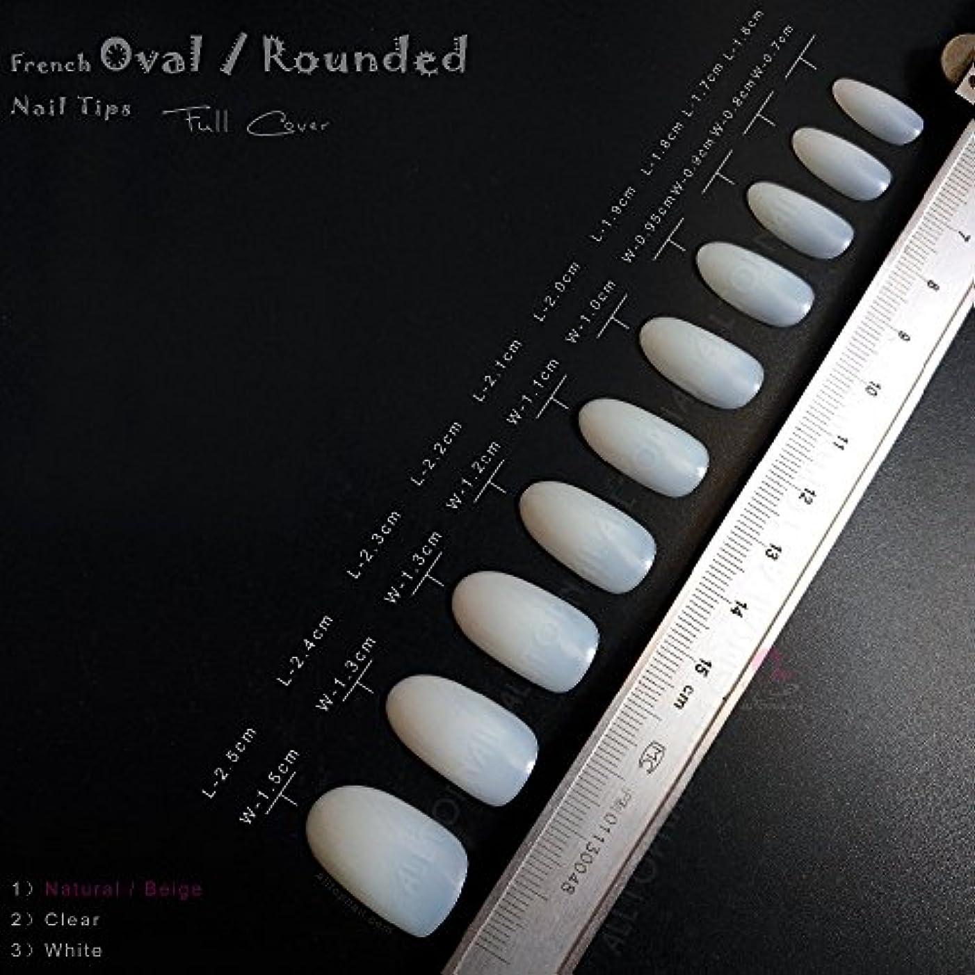 ペンダントデザートスポンジネイルチップ 10サイズ100枚(クリーム色)