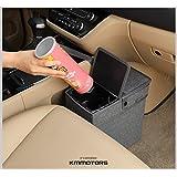 KMMOTORS オシャレな車用ゴミ箱 ビニールが見えない フタ付アラジンゴミ箱 (グレー)