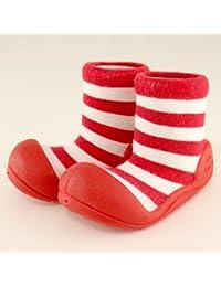 ベビーシューズ Baby feet ベビーフィート ラバー底ソックス CASUAL ( 12.5cm , Casual Red レッド )