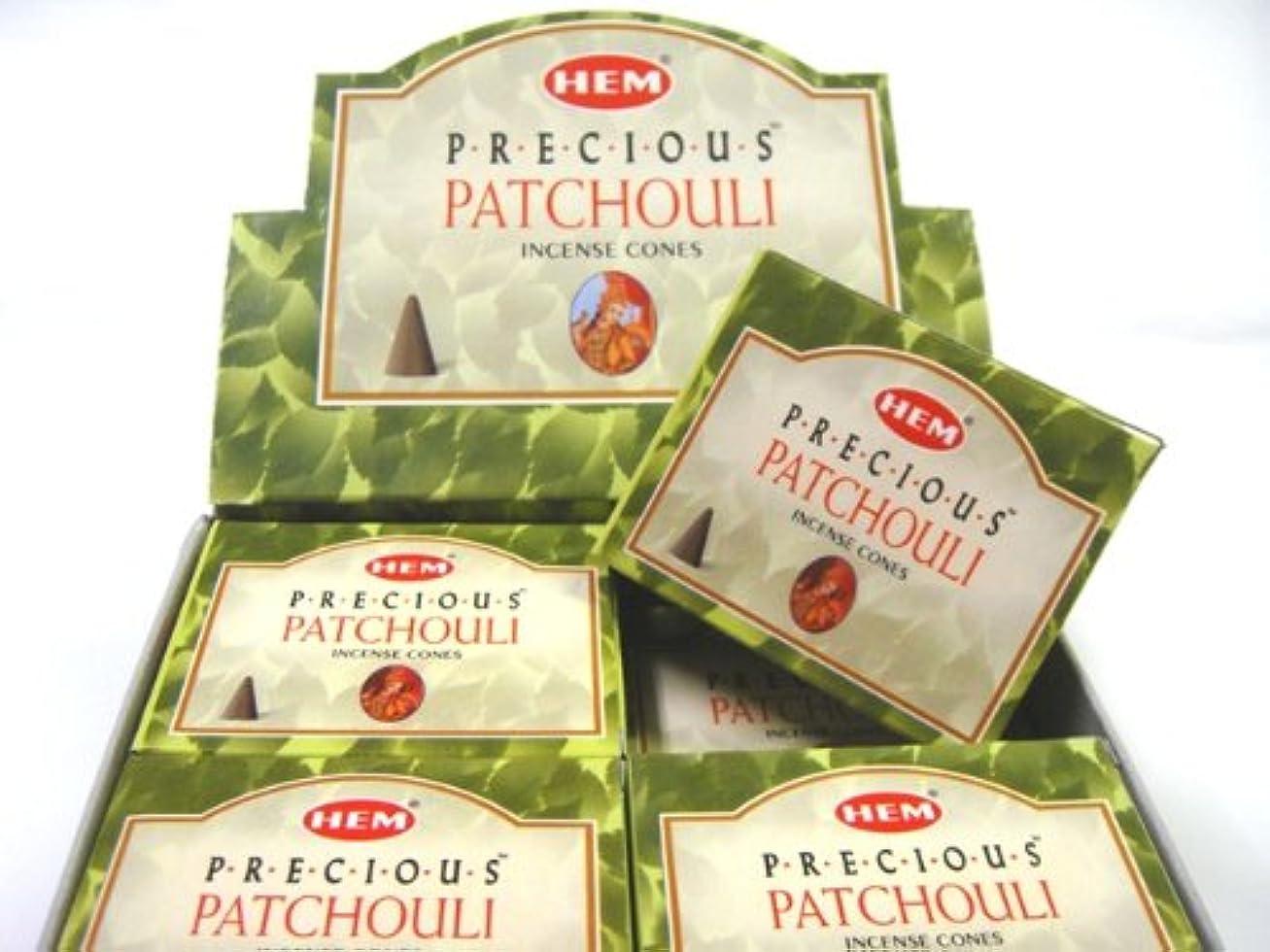 パノラマステーキ本質的にHEM(ヘム)お香 パチョリ コーンタイプ 1ケース(10粒入り1箱×12箱)