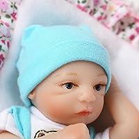 ピンキー20 cm 8インチソフトビニール人形シリコンSo Truely Lifelike LookingリアルNewborn Doll Baby Boy Eyes Opened Reborn Dolls Xmasギフト