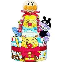 おむつケーキ [ 男の子/アンパンマン / 2段 ] パンパースM19枚 (1歳 の 誕生日プレゼント に Mサイズ)3001 ダイパーケーキ 赤ちゃん ベビーシャワー ギフト