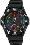 [シチズン キューアンドキュー]CITIZEN Q&Q 腕時計 ダイバー 10気圧防水 ウレタンベルト マルチカラー ブラック VR76-001 メンズ