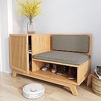 シューズラック- 靴ラックソリッドウッドシンプルな収納キャビネット家具クリエイティブシンプルさ竹オーガナイザー棚