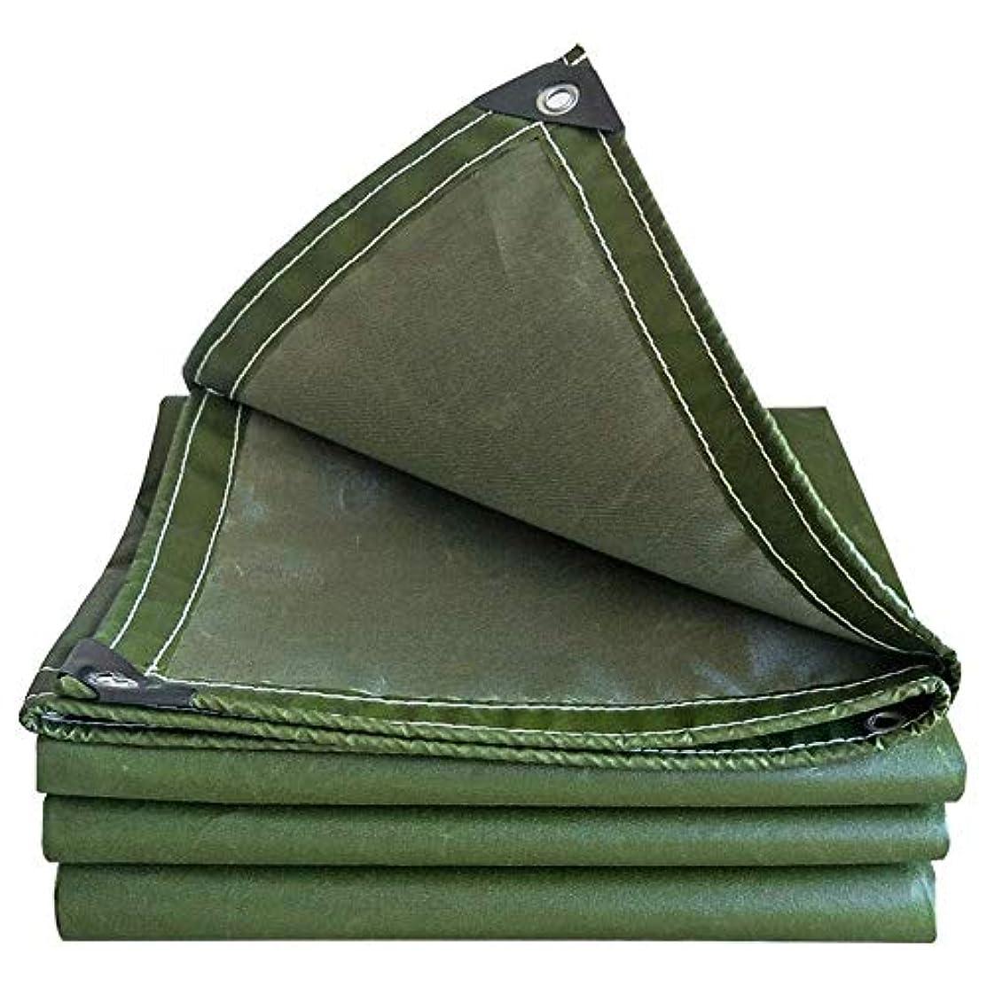 ドア追跡理論ZX タープ トラック防水シート防水シェード屋外の厚くするリノリウム四季のユニバーサル テント アウトドア (Color : Green, Size : 6x6m)