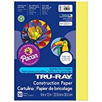 Pacon Tru-Ray Construction Paper, 9 x 12, 50-Count, Lively Lemon (103402) by Pacon