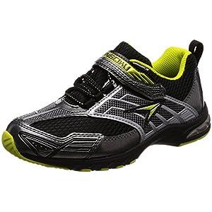 [シュンソク] 運動靴 防水 Hi-STANDARD 19cm~24.5cm 2E クロ 23 cm