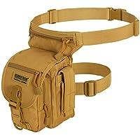 Seibertron Waterproof Airsoft Tactical Drop Leg Panel Utility Pouch Bag Type B Cross Over Leg Rig Outdoor Bike Cycling Hiking Hip/Thigh Bag