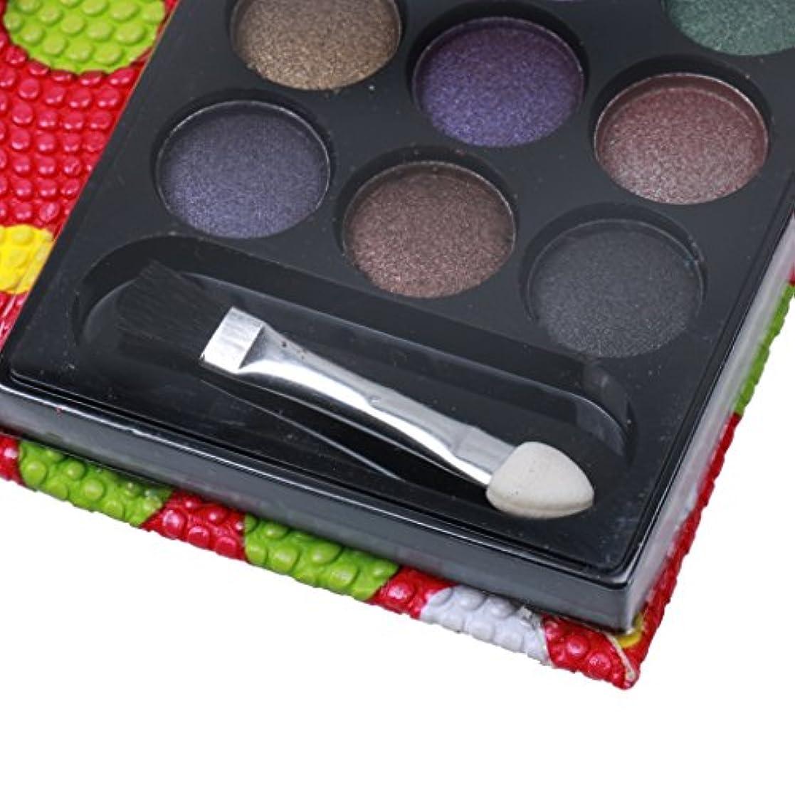 中間財布電気陽性18colorsアイシャドウメイクのきらめきマットアイシャドウパレットセットは、赤いバラ