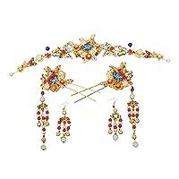 中国のエスニックジュエリー花嫁の装飾の古代の衣装