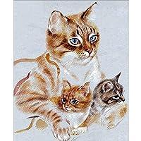 Xiyuyuan 家の装飾かわいい猫画像Diyダイヤモンド塗装動物ダイヤモンドモザイク