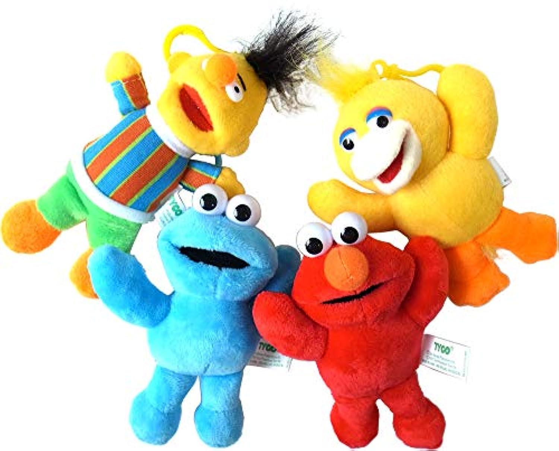 セサミストリート ホルダー付き 人形 4体セット / Sesame Street ぬいぐるみ ストラップ [並行輸入品]