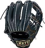 ZETT(ゼット) 軟式野球 グラブ (グローブ) プロステイタス セカンド・ショート用 右投げ用 ナイトブラック(1900N) 専用グラブ袋付き サイズ:1 BRGB30010