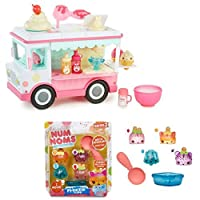 Num Noms Lipgloss Truck Playset with Freezie Pops S2 Scented 4-Pack (includes motorized Nom: Icy Berry Go-Go )