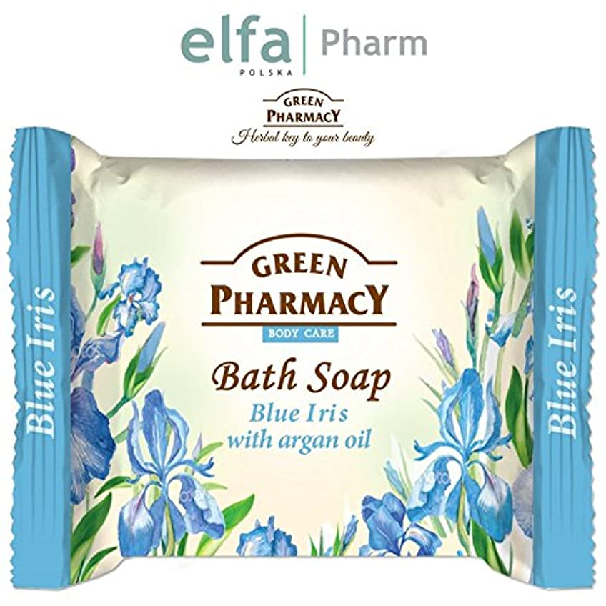 石鹸 固形 安心?安全 古代からのハーブの知識を生かして作られた固形せっけん ポーランドのグリーンファーマシー elfa Pharm Green Pharmacy Bath Soap Blue Iris with Argan...