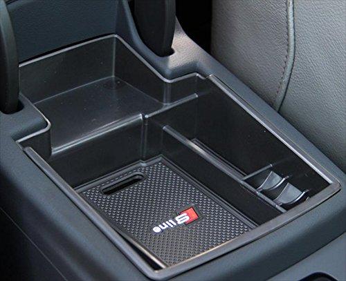 Audi アウディ アームレスト 2009-2015 センター コンソール ボックス トレイ ゴムマット付き (Q5 モデル)