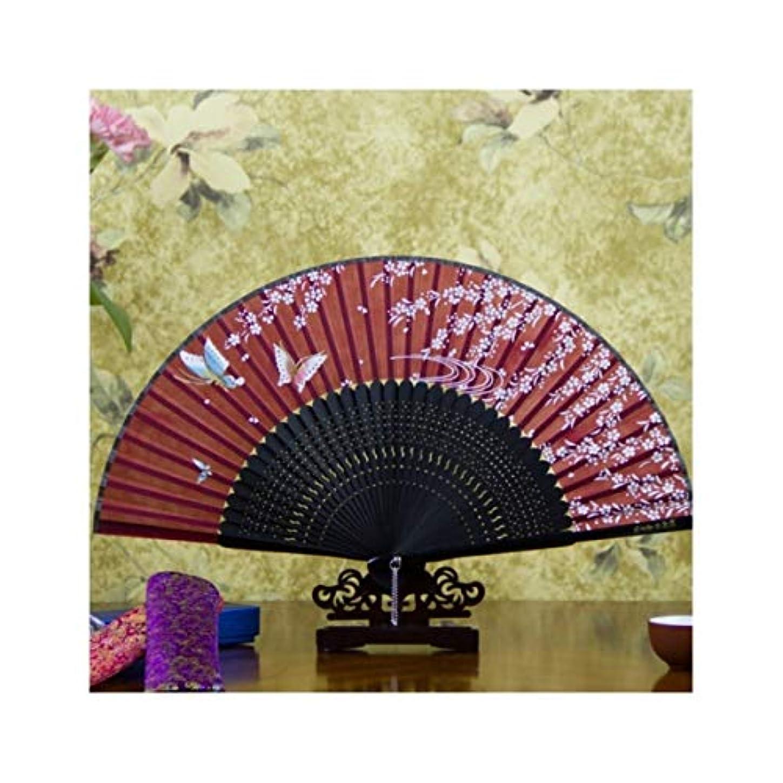 泥沼ストリップぶら下がるKATH 手描きのファン、中国のスタイルのギフトファン、扇子、