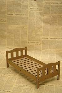 ミニチュア シングルベッド パターン1 1/6スケール スノコ穴あり