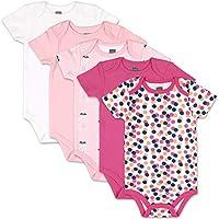 The Peanutshell Dots & Ballet Slippers Short Sleeve Body Bodysuits for Baby Girls