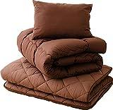 エムール 布団セット 「クレオ」 セミダブルセット(掛け布団 敷き布団 枕) 防ダニ 抗菌 防臭 日本製